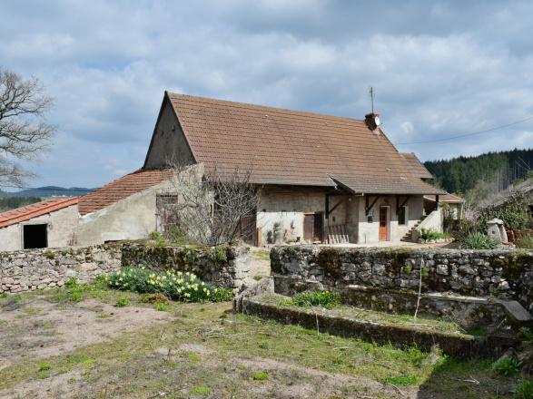 Sud Bourgogne. 1er voisin à 200 m. Cluny 25 min. Mâcon et gare TGV 30 min. FERMETTE À RÉNOVER AVEC PRÉ ATTENANT